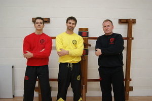 Sifu Alan Paterson with Master Paul Hawkes and Grandmaster Sergio Iadarola