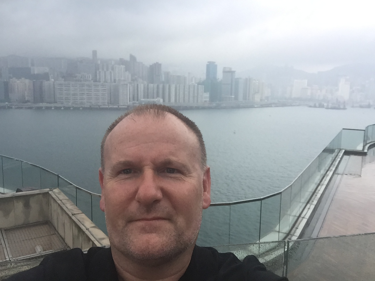 Sifu Alan with Hong Kong Island in the background